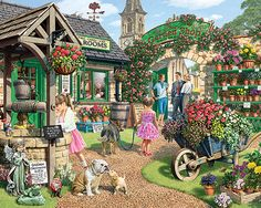 The Garden Shop Puzzle-White Mountain Puzzles