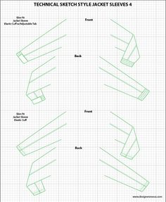 Mens Illustrator Flat Fashion Sketch Templates - Jacket Sleeves - 1045+ mix & match Menswear design templates only $39.95! #menswear #mensfashion #flatsketches #fashionflats #fashionsketches #fashiontemplates #fashionCADs