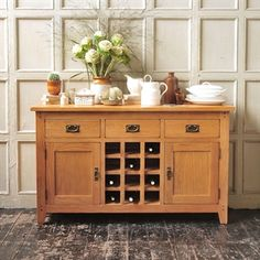 Kitchen Oakland Furniture classic Rustic Oak Furniture - The Cotswold Company Sideboard Decor, Kitchen Furniture, Oak Furniture, Country Style Dining Room, Sideboard With Wine Rack, Modern Dining Sideboard, Freestanding Kitchen, Dining Room Storage, Rustic Oak Furniture