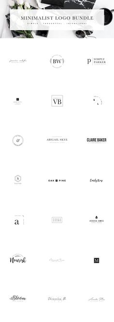 Minimalist Logo Collection by isntshelovelydesigns on @creativemarket