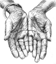 cupped hand drawing - Google Search