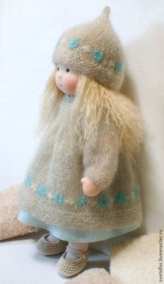 Куколка для Ирины, 42 см - бирюзовый,вальдорфская кукла,вальдорфская игрушка