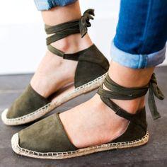 4b07b0a9823a Plus Size Ankle Wrap Espadrille Flat Sandals!!  Sandals  summer