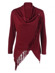 GET $50 NOW   Join RoseGal: Get YOUR $50 NOW!http://m.rosegal.com/sweaters/fringe-asymmetrical-cardigan-879848.html?seid=6882637rg879848