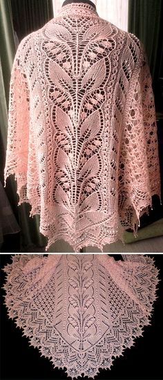 PDF Pattern Knitted Shawl Wrap Alessia Diamond shawl