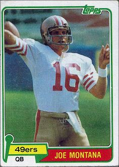 Joe Montana card Football Trading Cards c2ce37d03