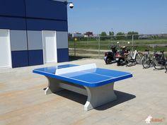 Pingpongtafel Afgerond Blauw bij MBO College Poort in Almere