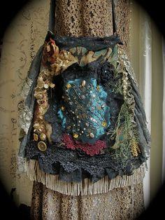 Bohemian Gypsy Purse handmade slouchy fabric ...