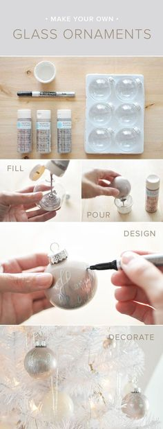 How To Make Your Own Glass Ornaments diy crafts christmas easy crafts diy ideas…