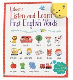 Listen and Learn First English Words - hear it, see the picture, spell it. - learn your sight words and new vocabulary