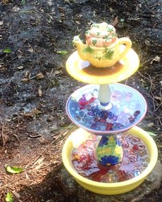 Water feature for the bees and butterflies