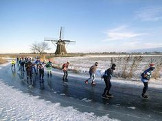 Ice skating in Friesland, Holland Kingdom Of The Netherlands, Holland Netherlands, Leiden, Rotterdam, Winter Looks, Le Moulin, Ice Skating, Belgium, Dutch
