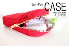 Epi-Pen Case Free Pattern + Tutorial - delia creates