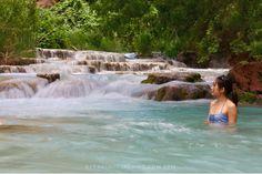Beaver Falls in Havasupai AZ