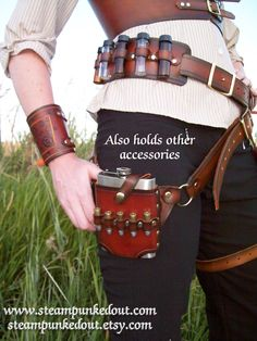 Steampunked Out by Witch Works -- Gun Holster Belt --