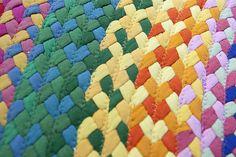 rainbow rug detail