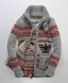 Superdry Big Zip Buffalo Knit - just looks cozy! Looks Cool, Looks Style, Style Me, Winter Wear, Autumn Winter Fashion, Cozy Winter, Fall Winter, Moda Hipster, Look Fashion