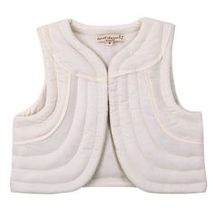 April Showers, Gille quilted waistcoat in white