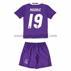 Fotballdrakter Barn Real Madrid 2016-17 Modric 19 Borte Draktsett
