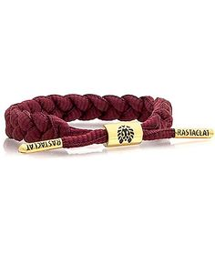 Add a splash of color to your outfits with the comfortable Rastaclat Merlot Bracelet.