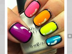 The Perfect Nails For Me! These nails just look perfect! Shiny Colorful Black Outlined