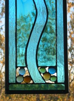 Stained Glass Suncatcher/Panel  River FREE by HillCountryGlass, $69.00