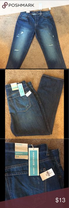 Old Navy boyfriend jeans Old navy distressed boyfriend jeans size 14 Old Navy Jeans Boyfriend