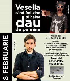 Stand-up caritabil cu Bonea si Bighei La Etaj!