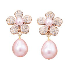 Earrings by Phillippe Ferrandis made with Swarovski elements