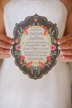 lovely die cut invite