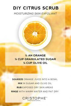 Citrus body scrub DIY