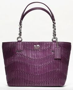 COACH MADISON GATHERED LEATHER TOTE - Handbags & Accessories - Macy's