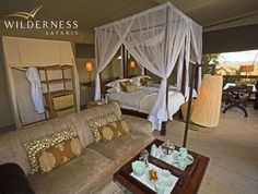Shumba Camp - There are six well appointed and spacious tents - including one family tent.