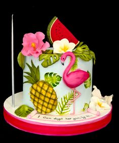 Flamingo Cake, Birthday Cake, Desserts, Food, Tailgate Desserts, Deserts, Birthday Cakes, Essen, Postres