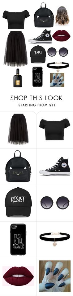 """""""Only You 👻👻"""" by unicorn64 ❤ liked on Polyvore featuring Alice + Olivia, Accessorize, Converse, Casetify, Betsey Johnson and Tom Ford"""