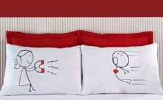 """These cute Magnetic Pillow Cases scream """"You're Irresistible"""" to your significant other and are a really creative way to show your love this Valentine's Day"""