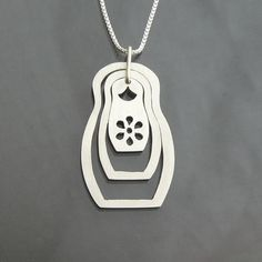 Nesting doll necklace!