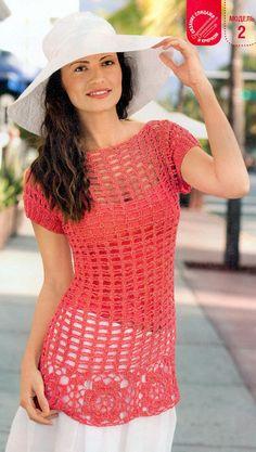 very pretty crochet top...love the color <3