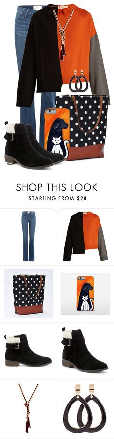 """""""Black Friday Shoping-at-the-Mall Outfit"""" by funnfiber ❤ liked on Polyvore featuring Frame, Marni, Samsung, Sole Society and GUESS"""