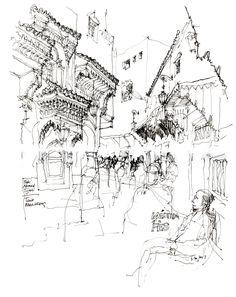 Médina Pathways   Seeing.Thinking.Drawing