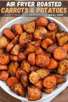 Air Fryer Oven Recipes, Air Fry Recipes, Easy Potato Recipes, Air Fryer Dinner Recipes, Side Dish Recipes, Side Dishes, Chef Recipes, Chicken Recipes, Tamales