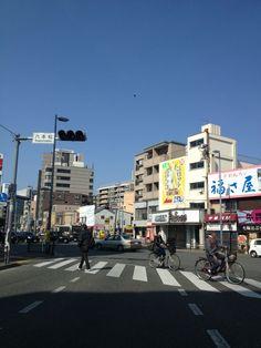 六本松交差点 場所: 福岡市, 福岡県