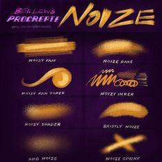 Procreate Noize by Ben Lew Illustration on @creativemarket