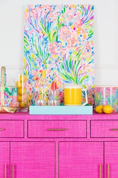Lilly Pulitzer x Society Social – Society Social Palm Beach Decor, Interior Design Trends, Decoration Bedroom, House Colors, Room Inspiration, Lilly Pulitzer, Painted Furniture, Creative, Sweet Home