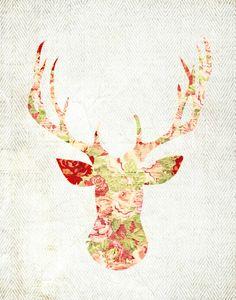 floral deer download...
