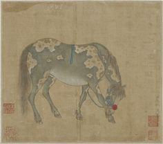 A Gray horse | 1644-1911 | Han Gan (Chinese, ca. 715-after 781) | Qing dynasty | Ink and color on silk | China | Gift of Charles Lang Freer | Freer Gallery of Art | F1911.154b