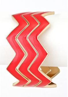 Chevron Bangle Stack - Red $10 with FREE SHIPPING! www.elleandk.com