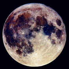 Imagem de moon, night, and space