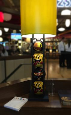 Pac-Man Bowling Ball Lamp - Level 257 Namco's PacMan themed restaurant