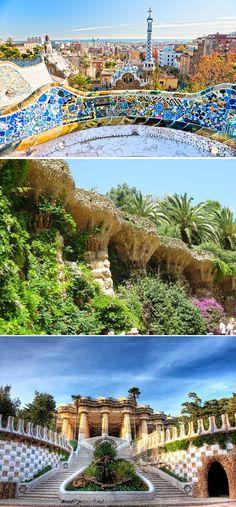 Park Guell. Antoni Gaudi. Barcelona, Spain. 1900-14